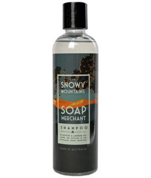 snowy mountains soap merchant shampoo bottle