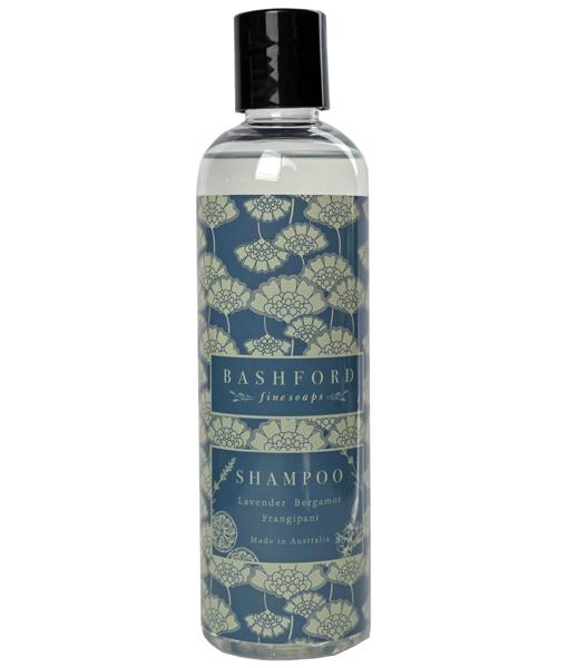 bottle of bashford shampoo