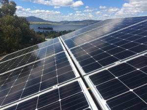 solar panels on roof landscape